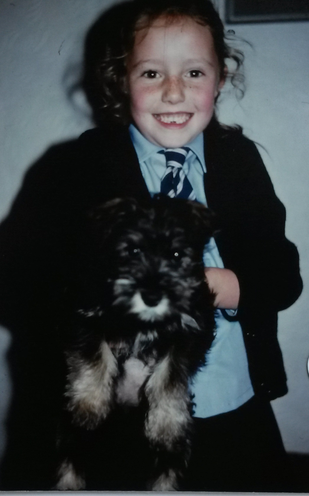 Young Jemma with Jamie Dog